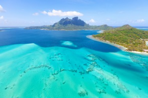 Aerial view of Bora Bora, French Polynesia