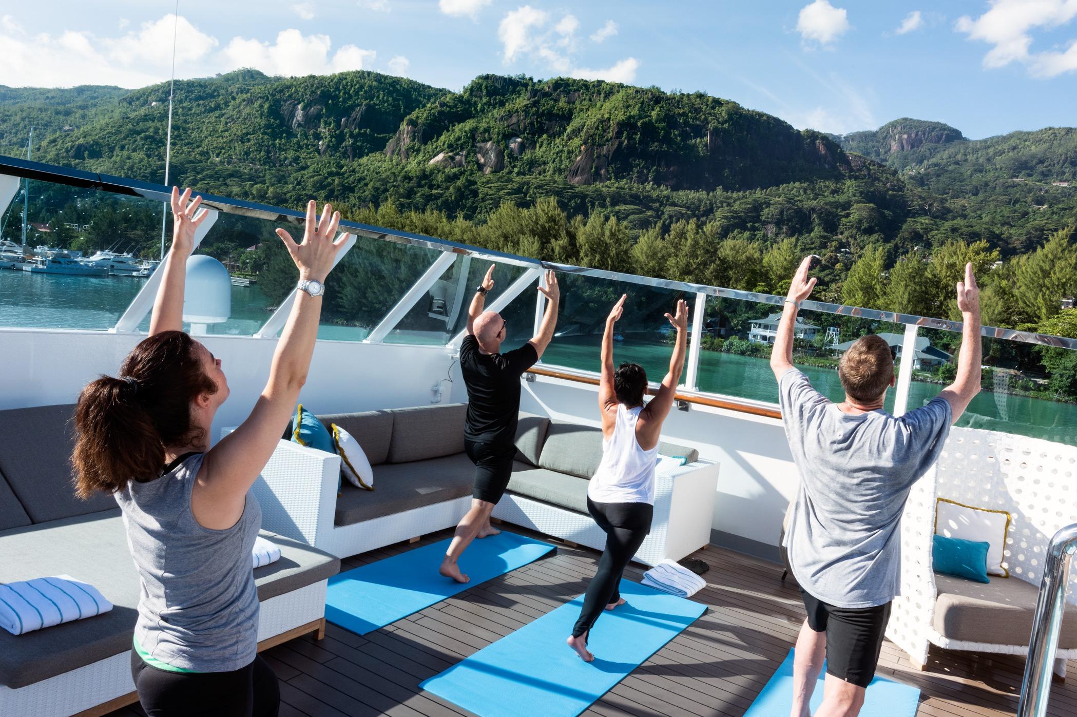 Crystal Cruises - Crystal Esprit onboard yoga