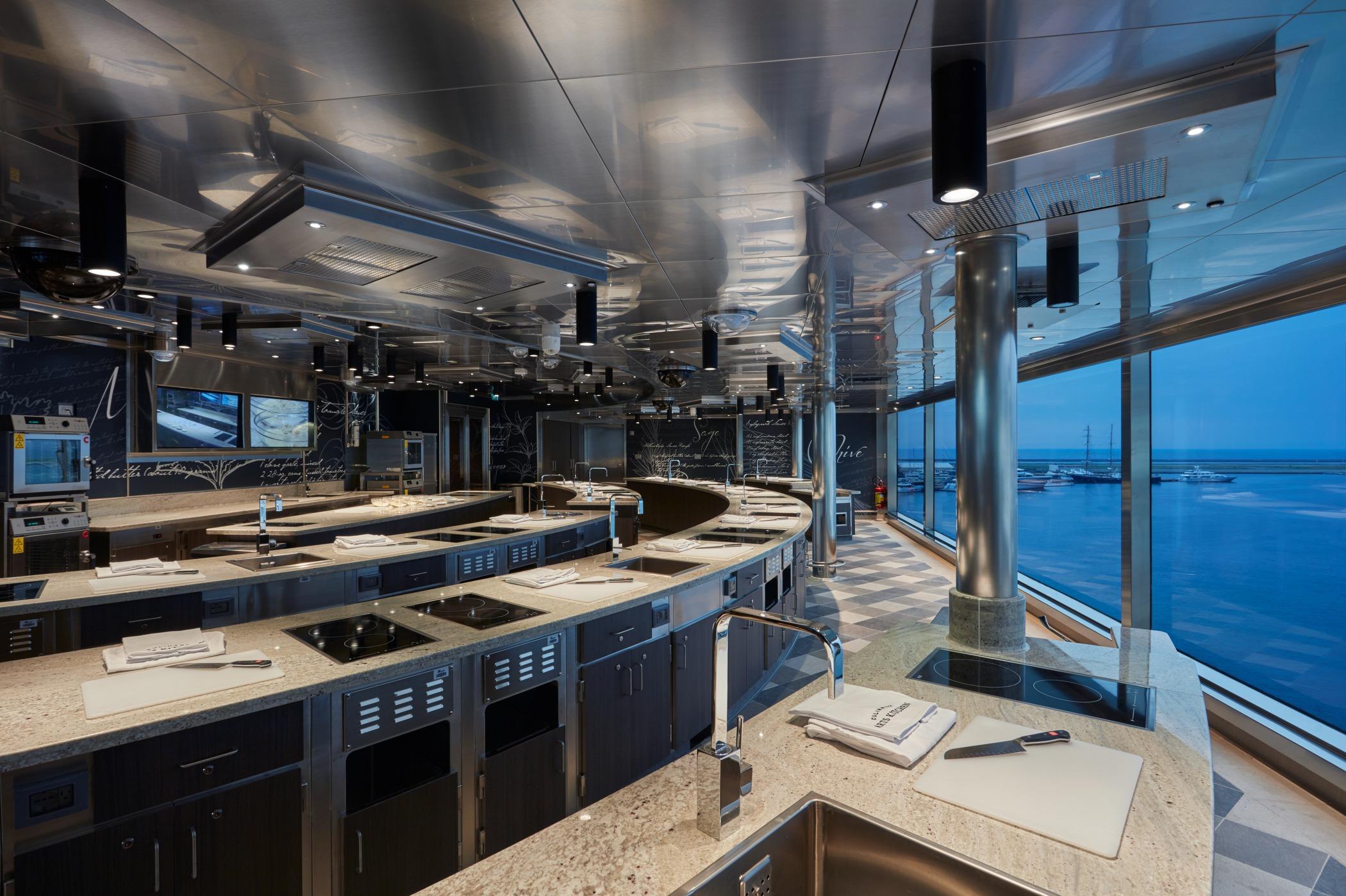 Regent Seven Seas Explorer - Culinary Arts Kitchen