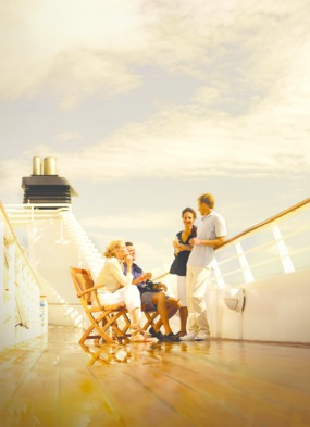 Guests Relaxing on Deck