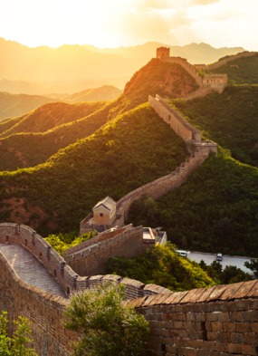 China & Japan cruises - The Great Wall at sunset