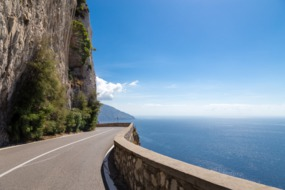 Road on the Amalfi Coast, Italy