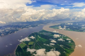 Confluence of rivers at Manaus