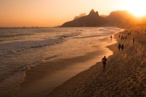 Sunset over Ipanema Beach, Rio de Janeiro