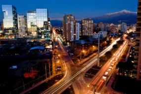 Traffic in Santiago de Chile
