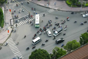 Motorcycle traffic in Ho Chi Minh City