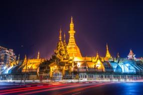 Shwedagon Pagoda at night, Yangon