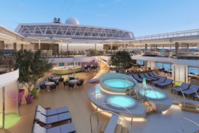 Holland America Line cruises - MS Koningsdam pool area