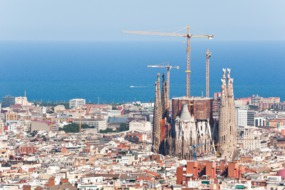 View of the Sagrada Familia, Barcelona