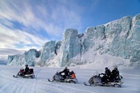 Snowmobiles near Longyearbyen, Spitsbergen