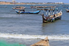Fishing boats in Jamestown, Accra