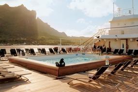 Paul Gauguin Cruises -  Pool deck