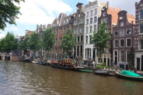 Canalside buildings in Amsterdam