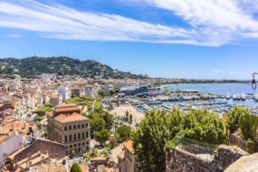 View over Le Suquet and Port Le Vieux, Cannes