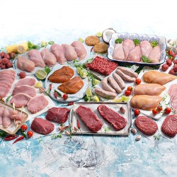 67 Piece Delicious July Meat Selection
