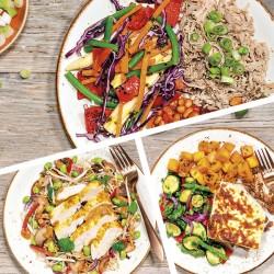 Extra fettarme Mittagessen für eine Woche - 5 Mahlzeiten