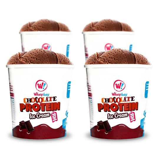 Wheyhey Chocolate Ice Cream - 4 x 150ml