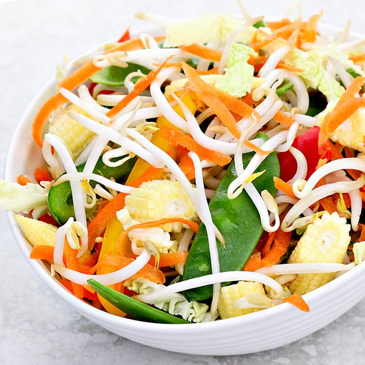 Cabbage & Bean Sprout Stir Fry