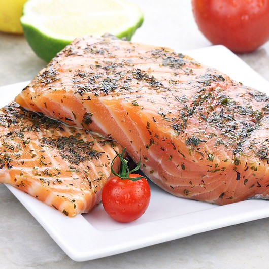 Fresh Salmon Fillets & Mixed Herbs