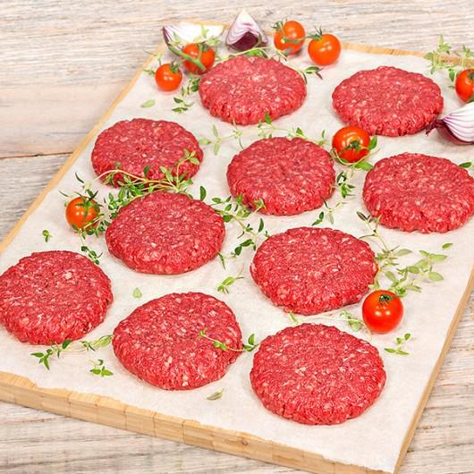 10 x 113g Free Range Rump Steak Burgers-10 x 113g