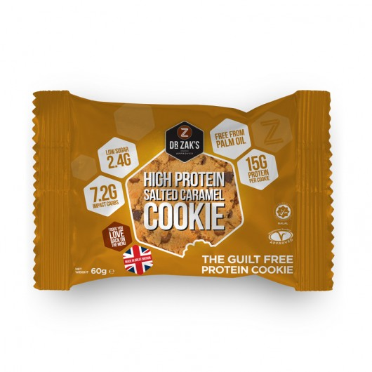 24 x Dr Zaks Salted Caramel High Protein Cookie