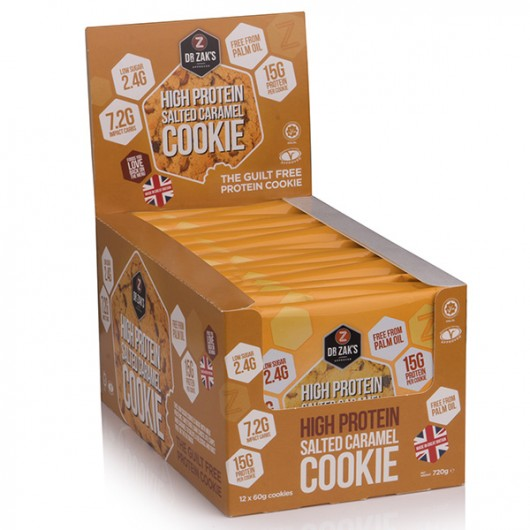Dr Zaks Salted Caramel High Protein Cookie - Box of 12