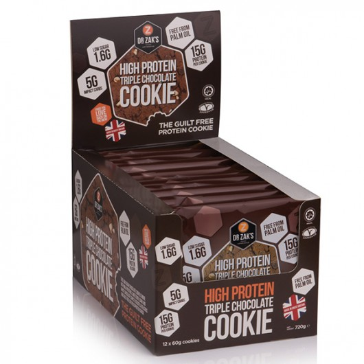 Dr Zaks Triple Chocolate High Protein Cookie - Box of 12