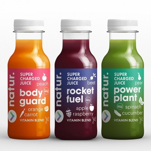 3 x 250ml Supercharged Juices (Orange, Raspberry, Spinach)