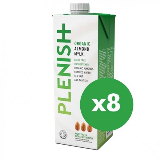 Plenish Dairy Free Almond Milk 8 x 1ltr
