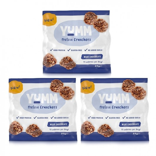YUMM High Protein Milk Choc Crunchers - 3 x 23g