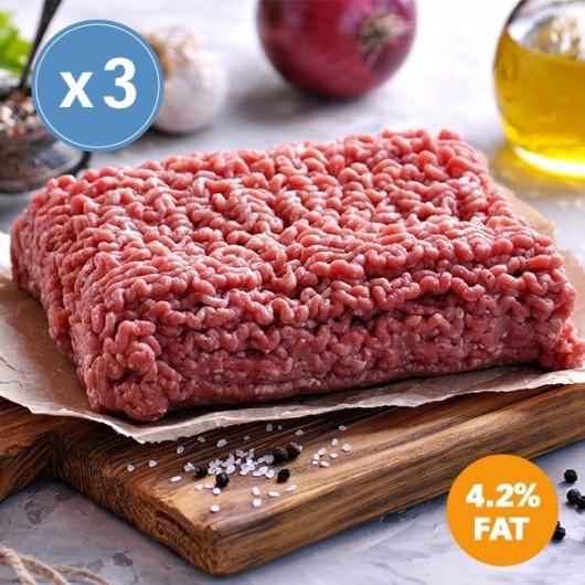 3 x 400g Extra Lean Free Range Steak Mince