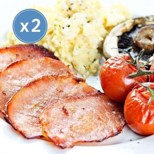 Low Fat Festive Breakfast Bacon Medallions