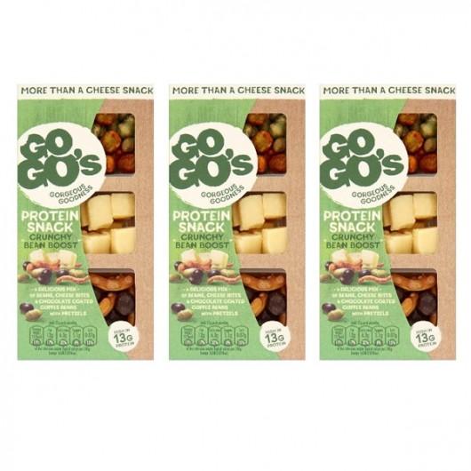 GoGo's Crunchy Bean Boost Cheese Snack - 3 x 55g