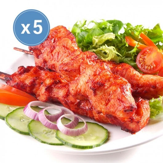 Ready To Eat Chinese Chicken On A Stick - 5 x 75g