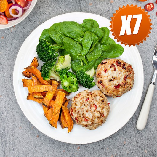 Turkey Burgers With Fries - 7 Meals