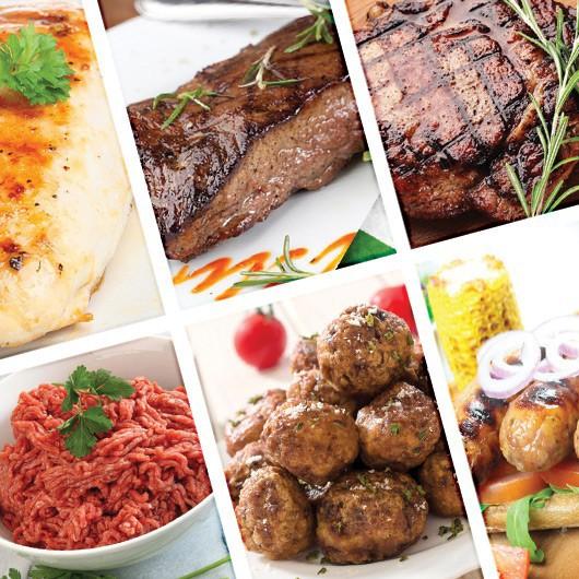 45 Piece Lean Meat Selection