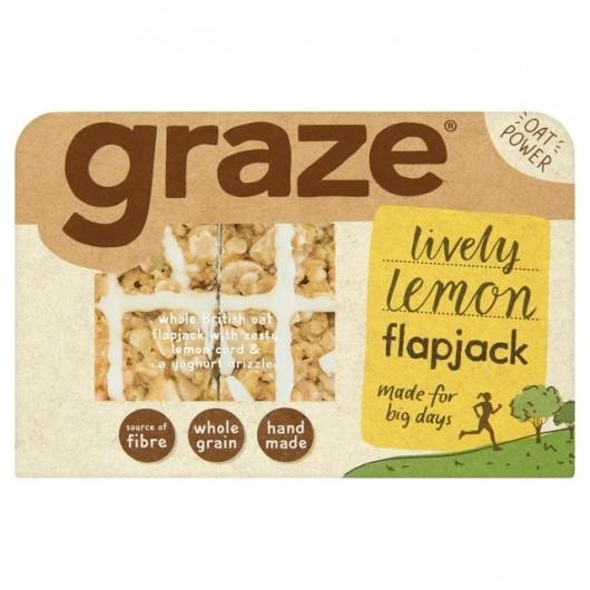 Graze Lemon Drizzle Flapjack - 3 Packs