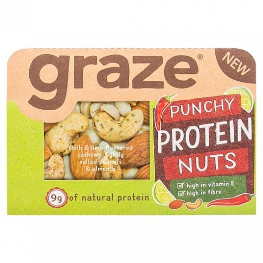 Graze Punchy Protein Nuts 41g-3 Packs