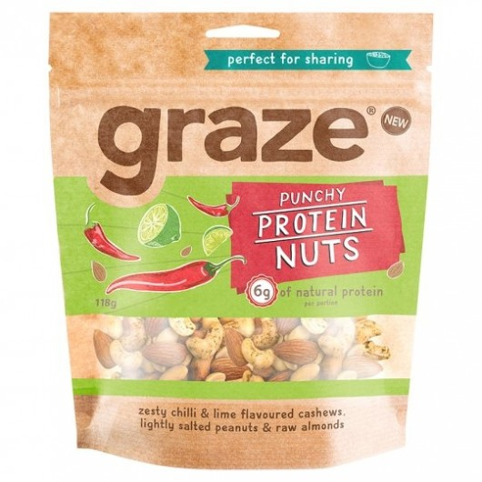 Graze Punchy Protein Nuts Sharing Bag 118g