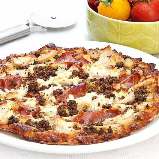 """10"""" Balanced Mighty Meat Protein Pizza"""