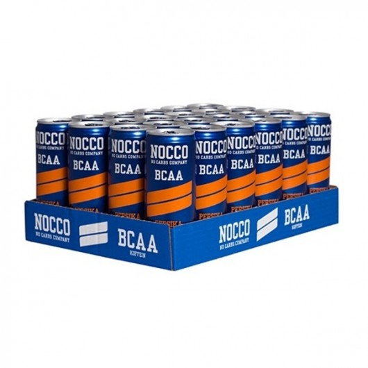 Nocco Peach Energy Drinks - 24 Cans (Dated 5th Jan '18)