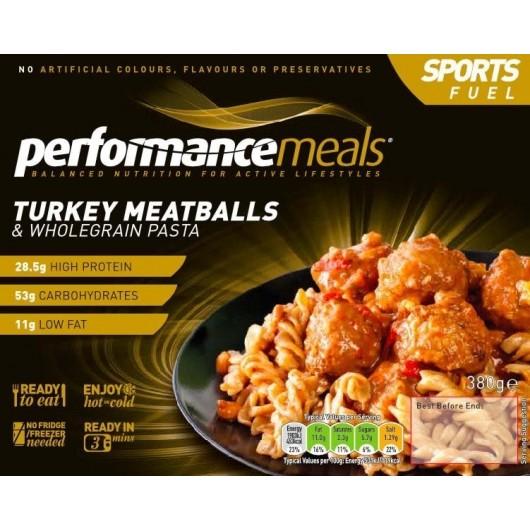 Turkey Meatballs & Wholegrain Pasta Performance Meal 380g