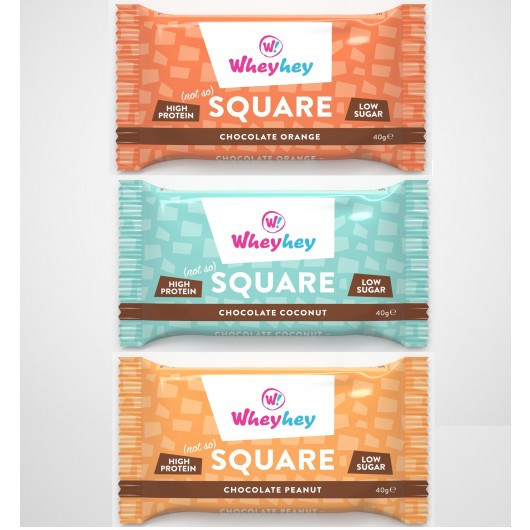 Wheyhey Protein Square Brownies - 40g