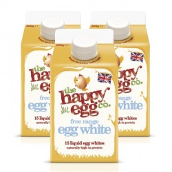 3 x 500ml The Happy Egg Co. Liquid Egg Whites