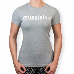 Female Muscle Food T-Shirt - Grey