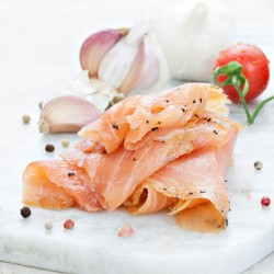 Garlic & Pepper Marinated Salmon