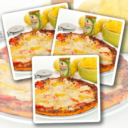 Citroen & Kruiden Kip Eiwit Pizza - Verpakking van 3