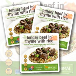 Tender Beef in Thyme with Rice - 6 Meals