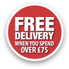 Free Delivery When You Spend Over £75