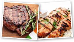 Beef Steak and Chicken Skewers